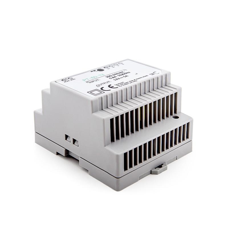 Transformador leds para carril din 230vac 12vdc 60w 5a for Transformador para led