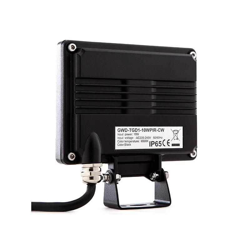 Proyector De Leds Para Exterior 10w 850lm Con Detector Movimiento Regulable Con Mando A