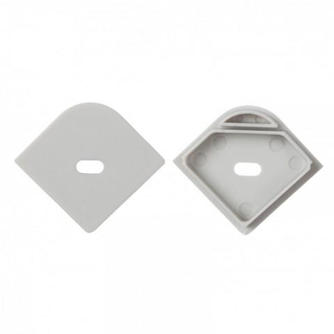 Tapón Final para Perfíl de Aluminio LLE-ALP015R con Agujero