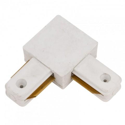 Conector 90º para Carril Focos de LEDs Color Blanco