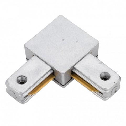 Conector 90º para Carril Focos de LEDs Color Aluminio