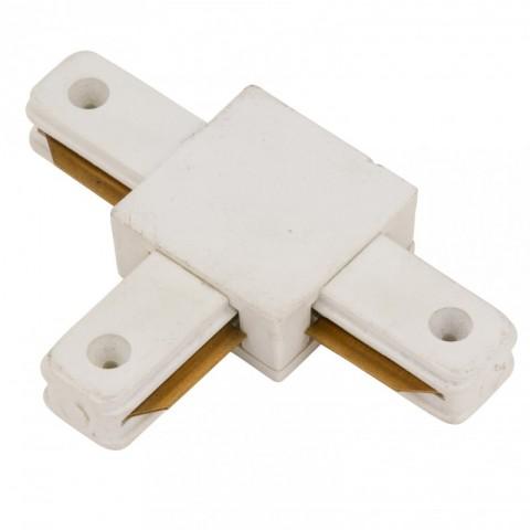 Conector T para Carril Focos de LEDs Color Blanco