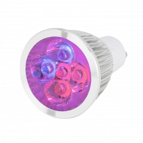 Lámpara de 5 LEDs GU10 para Cultivo y Aquarios 10W Rojo/Azul